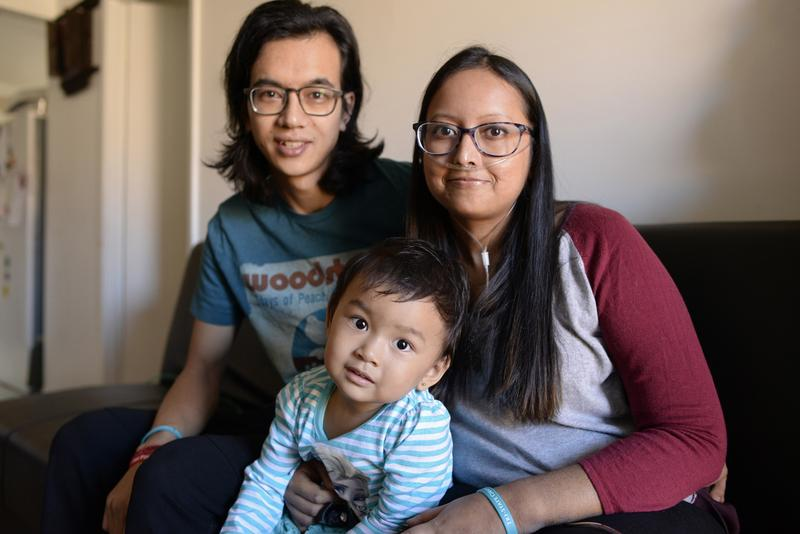 Prasha Tuladhar and her husband Dipak Maharjan try to make life as normal as possible for their daughter Jolene.