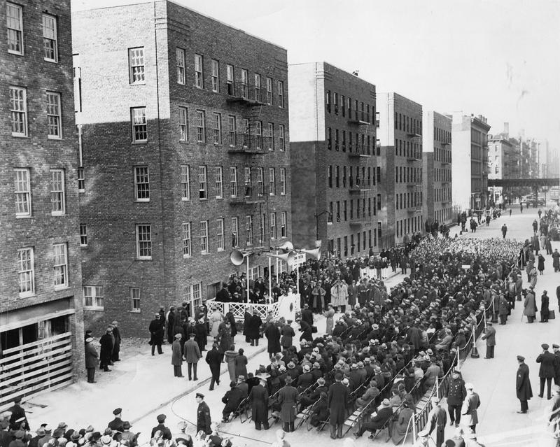 First Houses (Astor Housing project), Alphabet City, Manhattan, which was completed in 1936 with 126 units.
