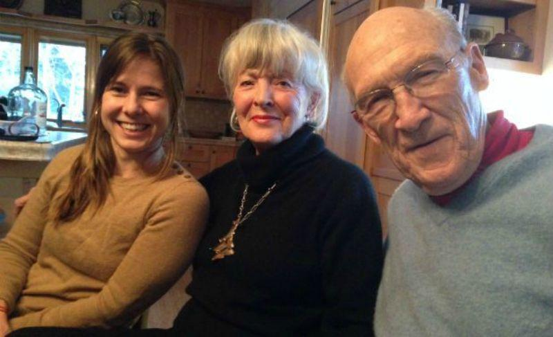 Anna with Ann and Al Simpson at their home in Cody, Wyoming