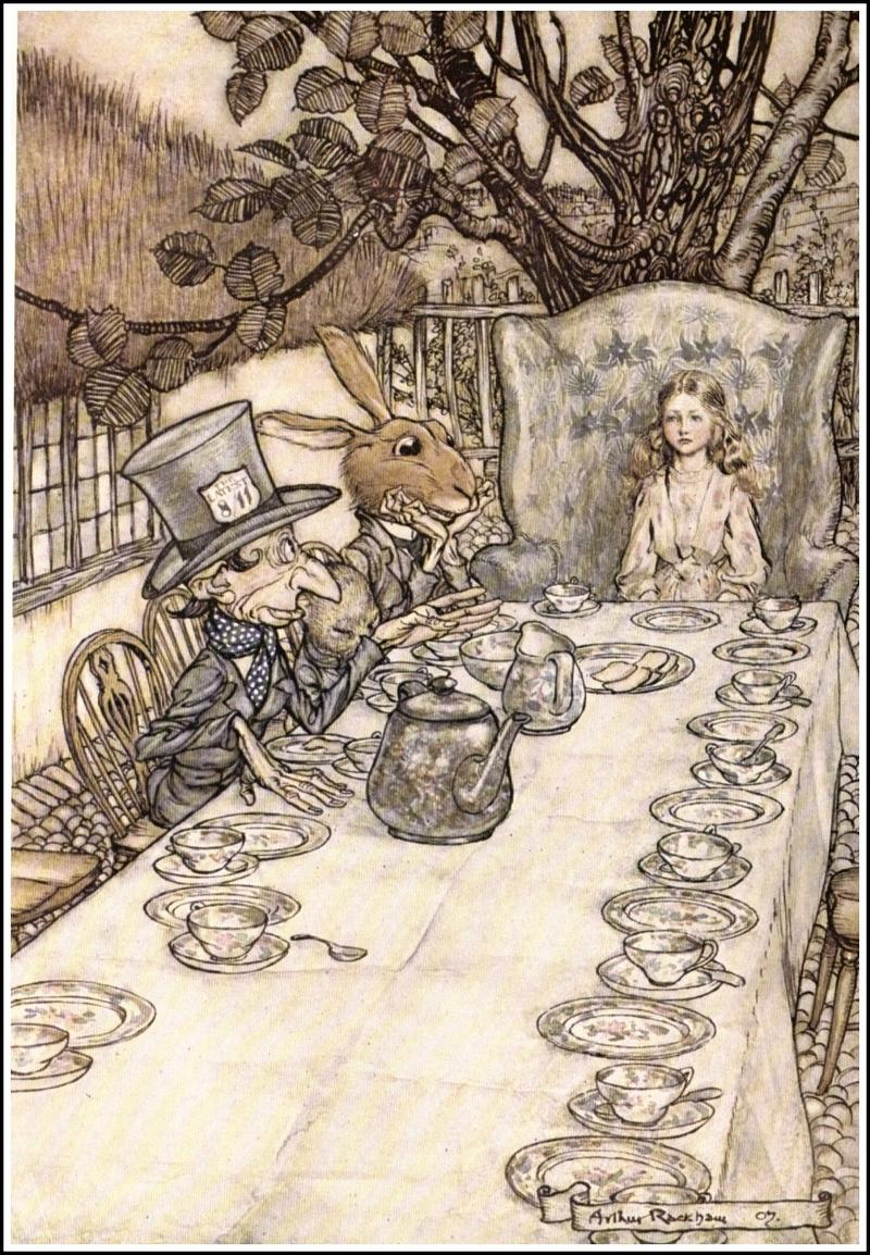 A Mad-Tea Party, Alice's Adventures in Wonderland, 1907