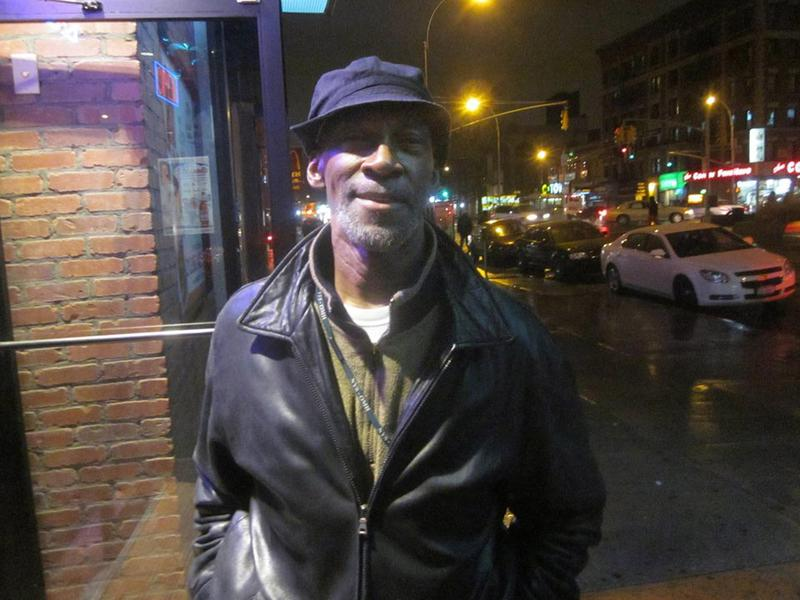 Alvin Entzminger on the streets of Harlem