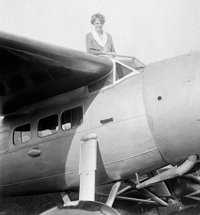 Amelia Earhart, 1st woman to cross the Atlantic Ocean by plane in an undated photo.