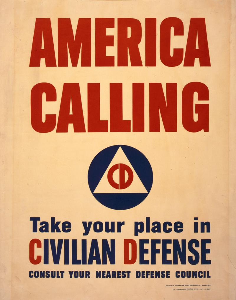 World War II era civil defense poster.