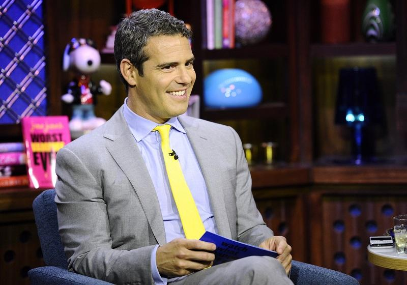 """WATCH WHAT HAPPENS LIVE -- """"Guests: Sandra Bernhard and Sonja Morgan"""" -- Pictured: Andy Cohen"""