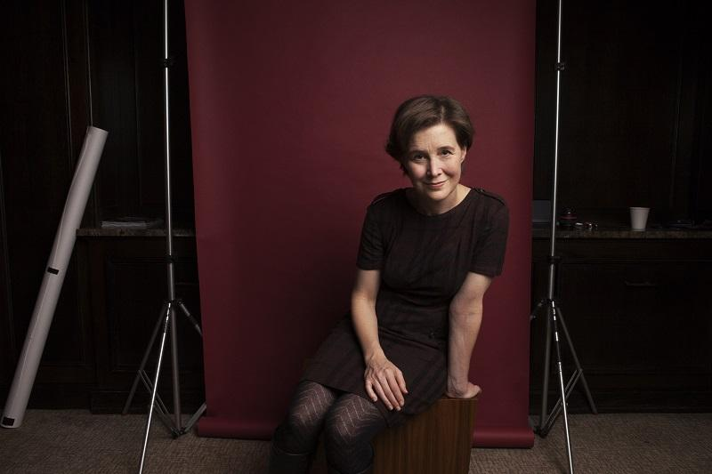 Author Ann Patchett sits for a portrait at The Wales Hotel in New York, New York on November 8th, 2013.
