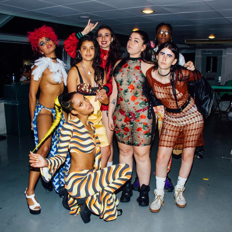 Brujas at their Anti-Prom in 2017 with artist dadacoz