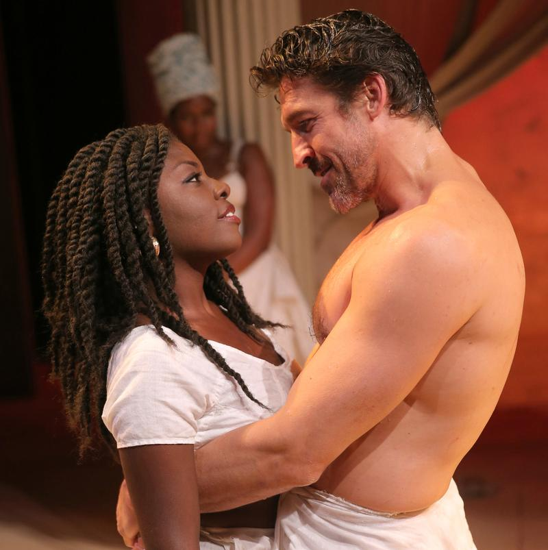Joaquina Kalukango and Jonathan Cake in <em>Antony and Cleopatra</em> at The Public Theater