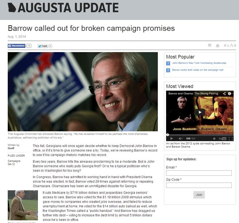 A screen shot of an NRCC-created website meant to look like a local news site.
