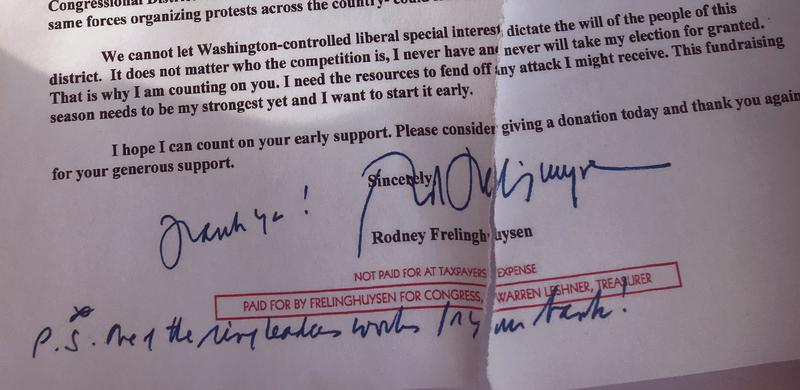 Frelinghuysen Letter (photo courtesy of Saily Avelenda)