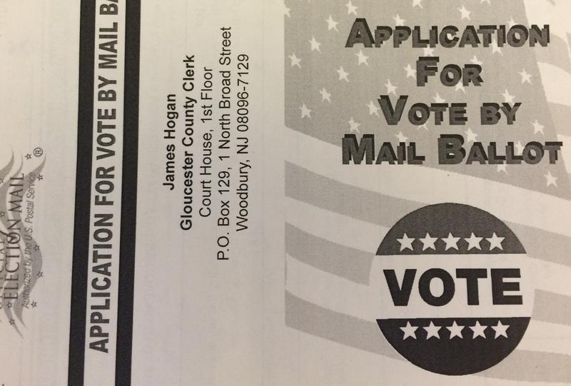 Copy of a NJ absentee ballot application
