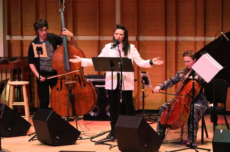 Robert Black, Shara Worden and Ashley Bathgate at Merkin Concert Hall at Kaufman Music Center