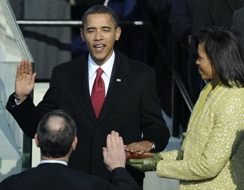 Presidential Inauguration of Barack Obama on the west side of The U.S. Capitol Tuesday morning on January 20th, 2008.