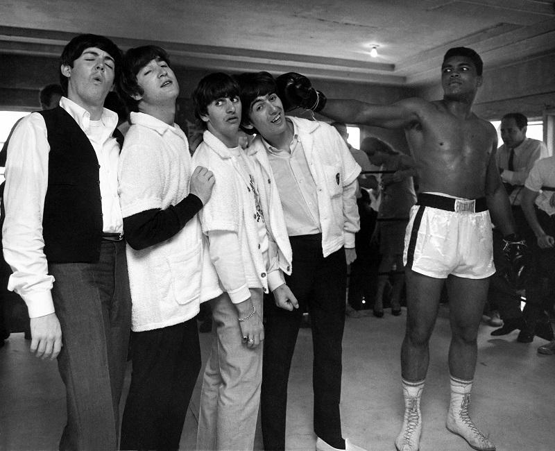 The Beatles and Muhammad Ali in HARRY BENSON: SHOOT FIRST, a Magnolia Pictures release.
