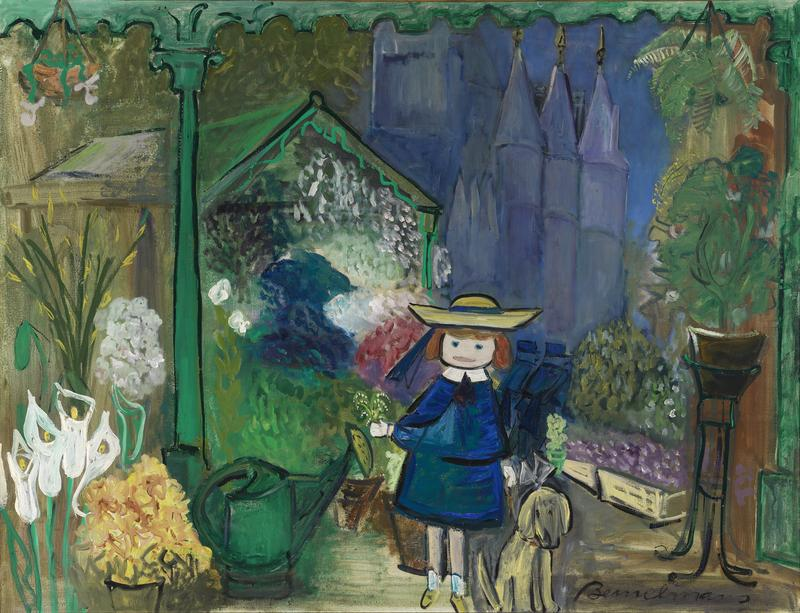 Madeline at the Paris Flower Market, 1955