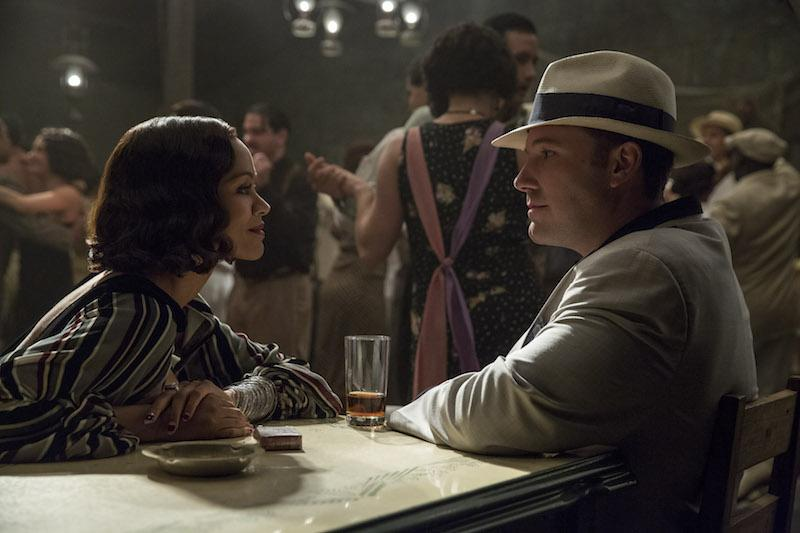 "Ben Affleck stars in ""Live by Night,"" with Zoe Saldana."
