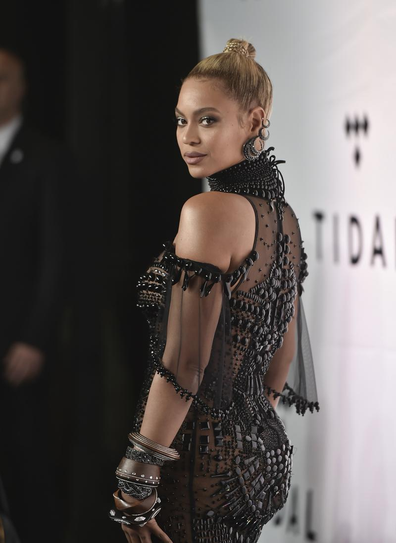 Beyonce Knowles attends the Tidal X: 1015 benefit concert, hosted by Tidal and the Robin Hood Foundation, at the Barclays Center on Saturday, Oct. 15, 2016, in New York.