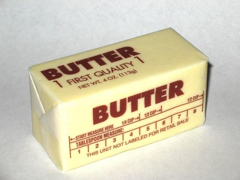 A stick of western pack butter.
