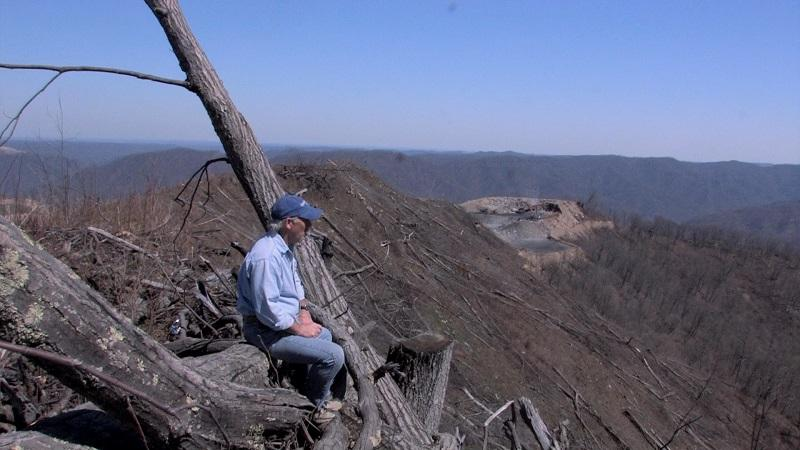 Chuck Nelson on the Edwight Surface Mine overlooking Naoma, WV.