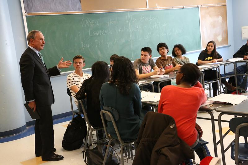 Mayor Bloomberg visited Bard High School Early College in Queens on Friday.