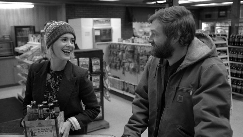 "Sarah Paulson and Mark Duplass star in ""Blue Jay,"" directed by Alex Lehmann."