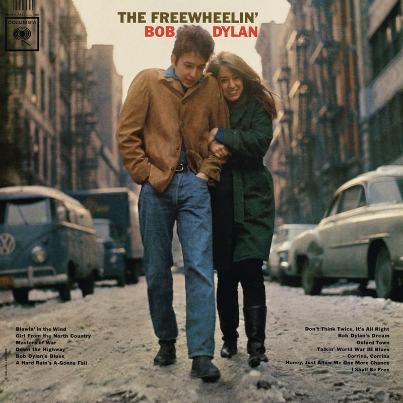 The album cover to 'The Freewheelin' Bob Dylan.'