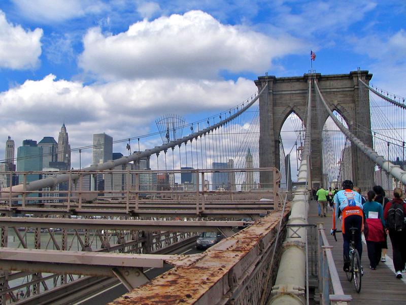 A new study could result in wider paths for pedestrians and cyclists on the crowded Brooklyn Bridge.