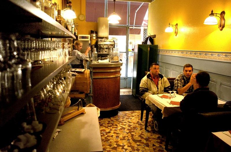 A photo taken at a 'bouchon' restaurant on November 7, 2006 in Lyon, southern France.
