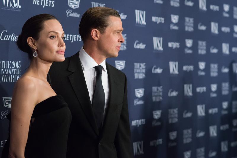 Angelina Jolie and Brad Pitt attend the WSJ Magazine Innovator Awards 2015 at the Museum of Modern Art on Wednesday, Nov 4, 2015.