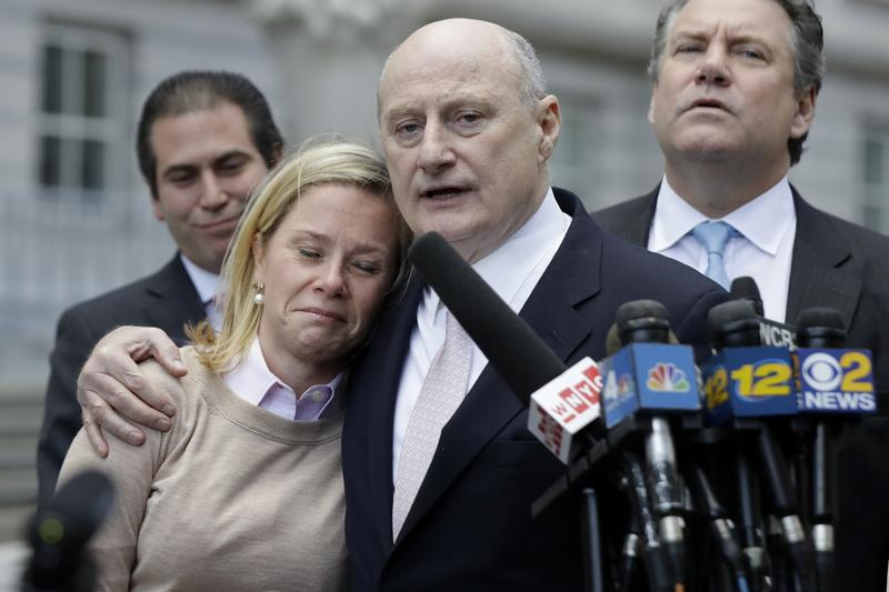 Bridget Anne Kelly, former Deputy Chief of Staff for New Jersey Gov. Chris Christie, and her lawyer Michael Critchley. Kelly was found guilty on all counts.