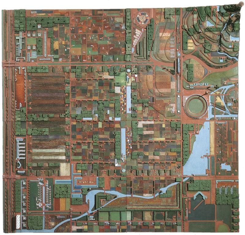 Broadacre City, project created by Frank Lloyd Wright in 1934–35