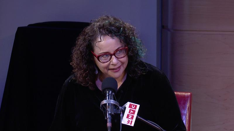 Brooke Gladstone drops the mic at WNYC's 'Werk It' event in The Greene Space on June 5, 2015.