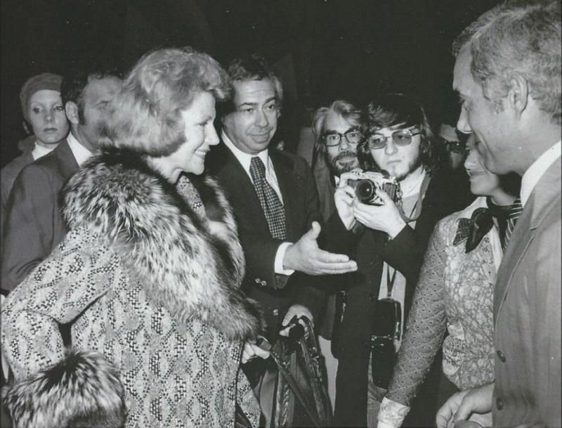 Budd and Rita Hayworth Arrive at Ezeiza International Airport in Buenos Aires, 1970.