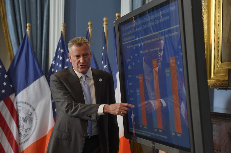 Mayor Bill de Blasio presents his Fiscal Year 2015 Executive Budget