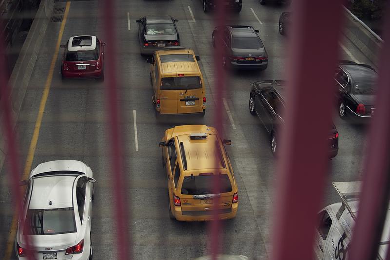 Traffic on Williamsburg Bridge