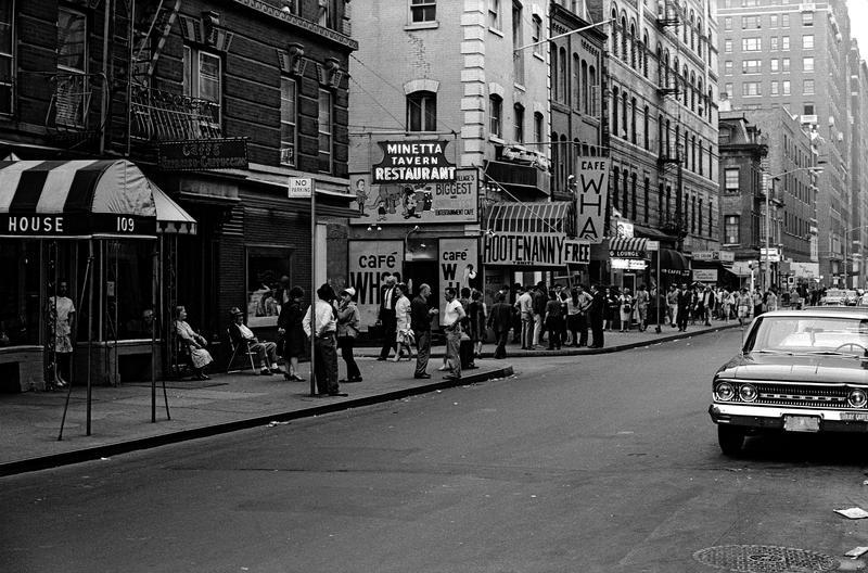 Cafe Wha? on MacDougal Street, Robert Otter, 1963