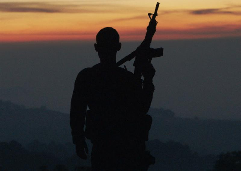 Autodefensa member standing guard inMichoacán,Mexico, from CARTEL LAND, a film by Matthew Heineman