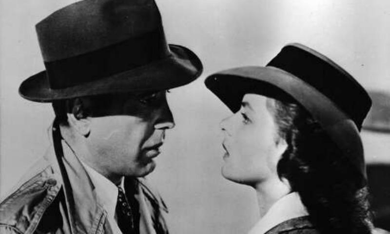 "Ingrid Bergman and Humphrey Bogart in ""Casablanca"""
