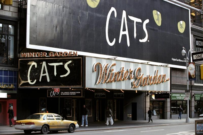 """The original """"Cats"""" marquee on Broadway"""