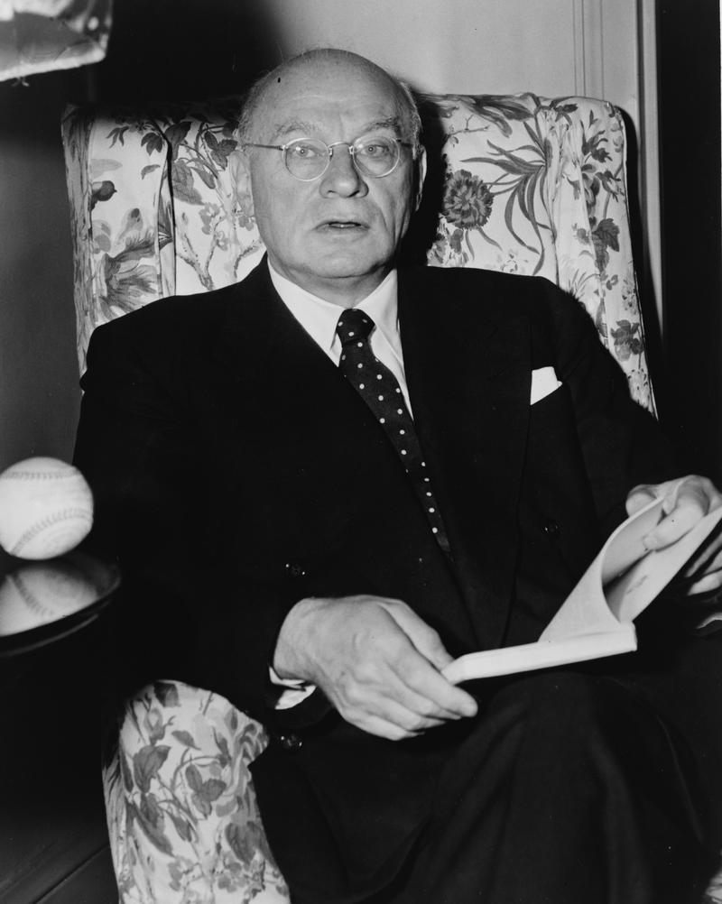 Emanuel Celler, three-quarter length portrait, seated, facing front in 1951.