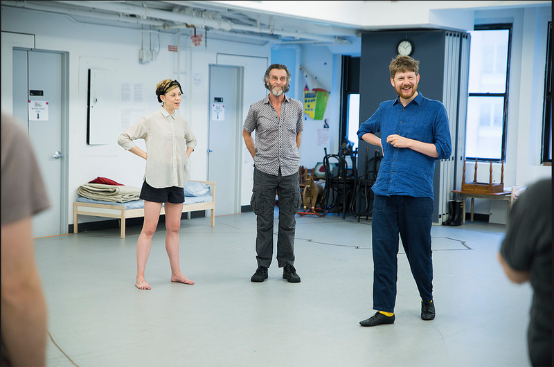 "Susanah Flood, John Glover and Simon Godwin in Roundabout's ""The Cherry Orchard."""