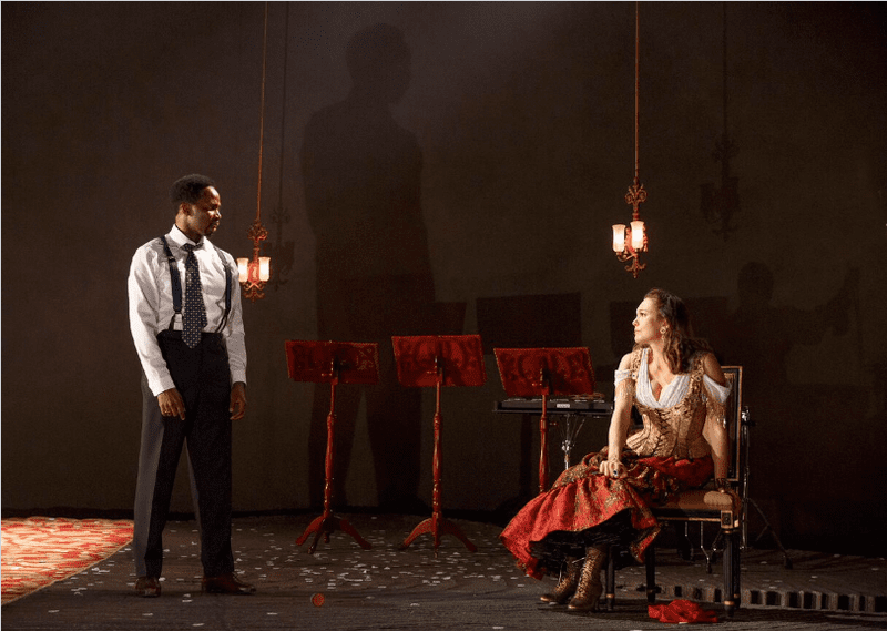 """Harold Perrineau and Diane Lane in Roundabout Theatre Company's """"The Cherry Orchard."""""""