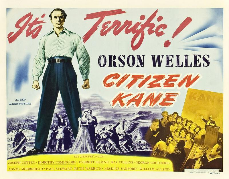 Movie poster for Citizen Kane, RKO Radio Pictures, 1941