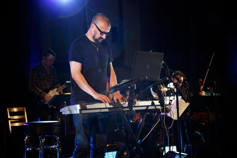 Film composer Clint Mansell performing at New York's Church of St. Paul the Apostle