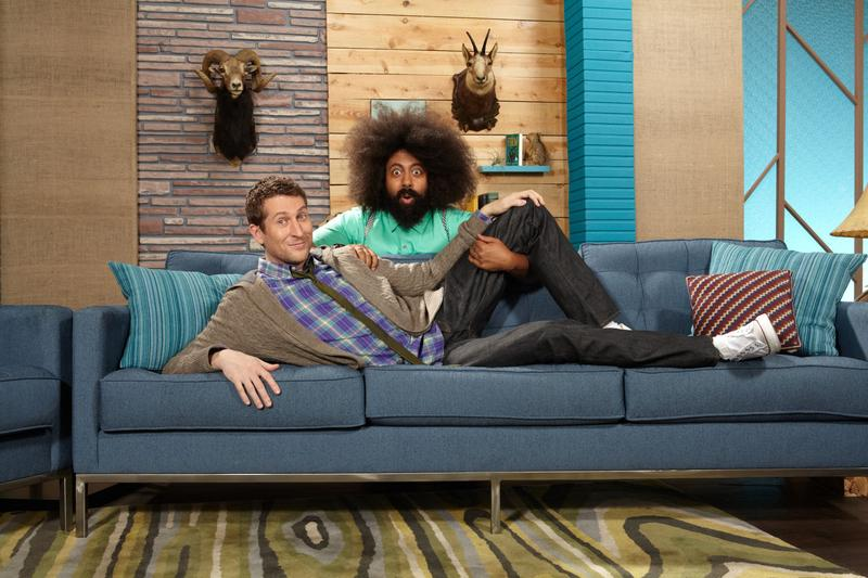 Scott Aukerman and Reggie Watts star in the IFC series Comedy Bang Bang.