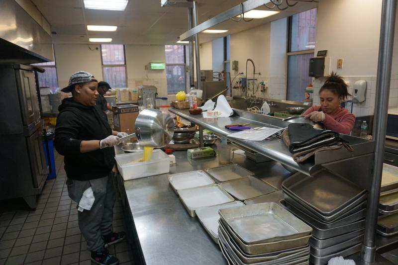 Tenants of the Bronx Cookspace cook in the shared professional kitchen in the South Bronx.