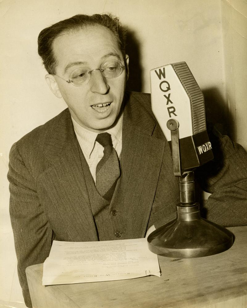 Aaron Copland at WQXR in 1942