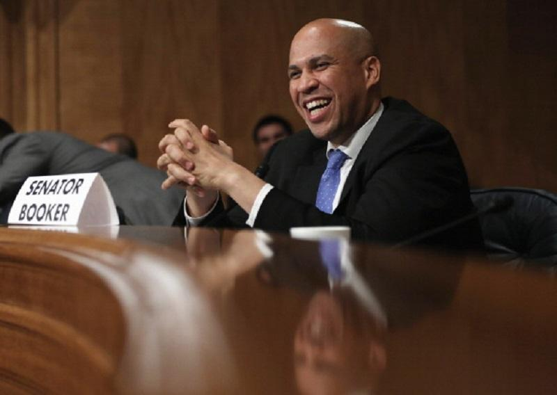 U.S. Sen. Cory Booker (D-NJ) speaks during a hearing before the Subcommittee on Emergency Management on Capitol Hill in Washington, DC on Nov. 6, 2013.