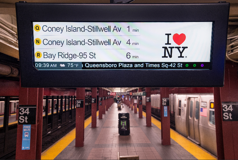 The MTA is testing countdown clocks in some stations on the N/Q/R line
