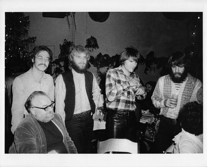 Creedence Clearwater Revival with Saul Zaentz.