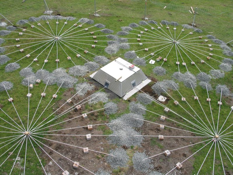 View of infrasound station array at infrasound station IS49, Tristan da Cunha, U.K.